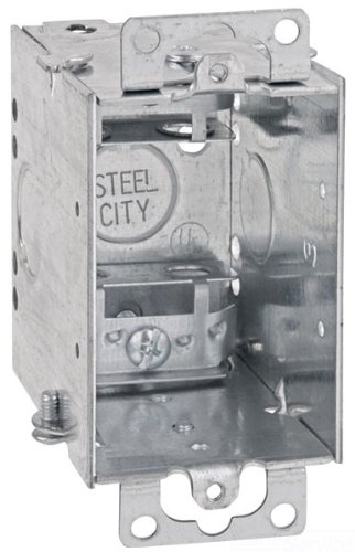 Steel City CWX-25 Switch Box, Gangable, Old Work, Welded Construction, 1 Gang, 3-Inch Length by 2-Inch Width by 2-3/4-Inch Depth, Galvanized, 25-Pack