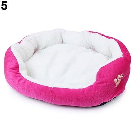 MFEIR Cama Gato Nido para Mascotas Cama de Perro Cálido Nido Algodón,Rosa caliente Pequeña: Amazon.es: Hogar