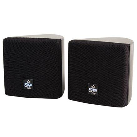 Saga Elite 3'' Surround Speakers w/ 360° Swivel Mounting Brackets, 8 Ohm-Black (Pair)