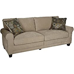 "Serta RTA Copenhagen Collection 73"" Sofa in Marzipan"