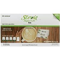 Stevia Super Life, Stevia Super Life Endulzante de mesa - Caja con 50 pzas, 1 gramos