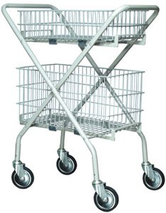 Lumex Versacart Folding Utility Cart / Wire Basket - Case of 2 - 7020A - Wire Basket, Small (***Cart Not Included***)