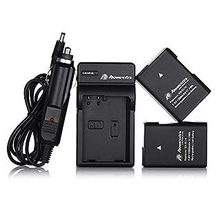 Powerextra EN-EL14 EN-EL14a 2 x Battery & Car Charger Compatible with Nikon D3100 D3200 D3300 D3400 D3500 D5100 D5200 D5300 D5500 D5600 P7000 P7100 P7200 P7700 P7800 DSLR Cameras