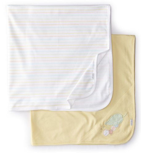 UPC 883953399052, Little Me Unisex-Baby Newborn Worm 2 Pack Receiving Blanket, Yellow Multi, One Size
