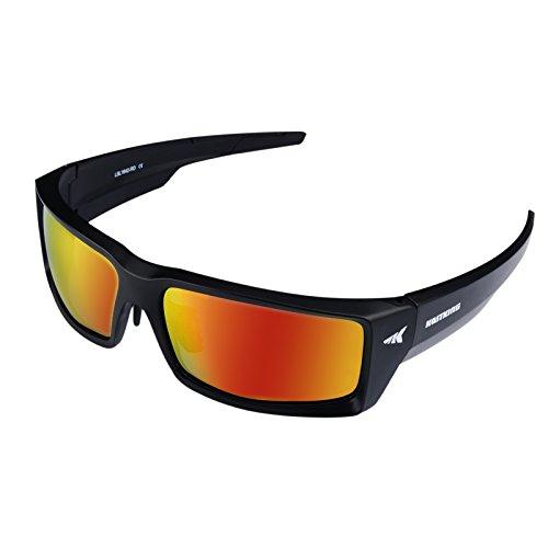 KastKing Jetly Sport Sunglasses, Mirror Color Polarized Lenses, UV Eye Protection, Unbreakable Frame, Light and Safe Eyewear for Men and Women