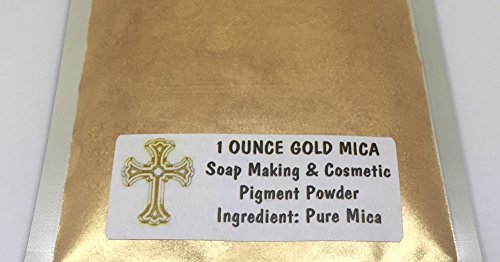 1 Ounce Bag 24K Gold Soap Sparkle Making Shimmer Cosmetics Pigment Powder Ingredient Pure Mica