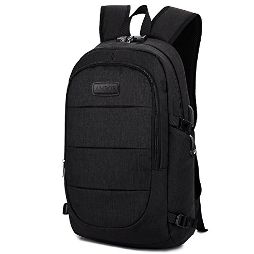 Laptop Backpack with USB Charging Port and Headphone interface