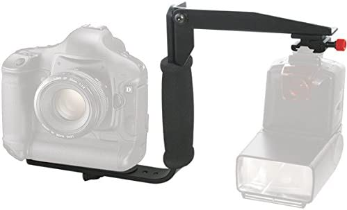 E-5 E-PM2 180 Degree Quick Flip rotating Flash Bracket /& Heavy Duty Off-Camera Flash Cords that Stretch to 3 Feet for Olympus OM-D E-P2 E-P1 E30 and E-620 cameras /& More E-P15 E-P5