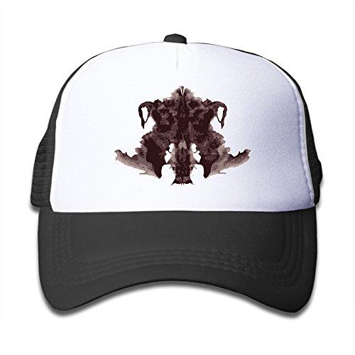 Cute Kids Pattern Snapback Hats Rorschach-Test Flat-along Mesh Cap Black (Rorschach Hat)