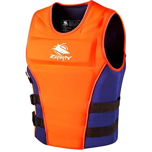 - Zeraty Life Jacket Adult Impact Vest for Outdoor Floating Swimming Ski|CE Proof 50N|Orange