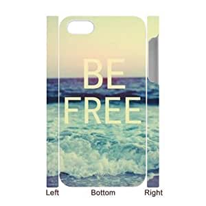 Be Free Customized 3D Cover Case for Iphone 4,4S,custom phone case ygtg581629 by supermalls