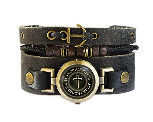Designs Jewelry Religious - Lost Tribe Designs Christian Bracelet with Cross and Anchor