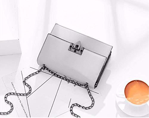 Bolsos Para De Color Wanjiamen'shop En Pequeña 21x14x7cm Mochila Mujer Con Cadena Sólido wBqqIFx5