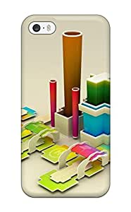 High Quality AnnDavidson 3d Abstract Cube Skin Case Cover Specially Designed For Iphone - 5/5s