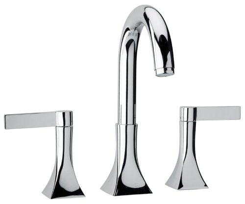 Jewel Faucets 17102  Chrome Two Blade Handle Roman Tub Faucet with Goose Neck Spout ()