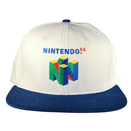 Officially Licensed Nintendo 64 Logo Snapback Hat (Fur Nintendo 64)