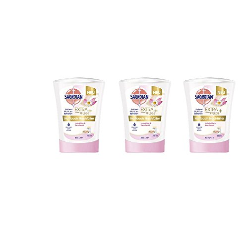 Sagrotan No Touch Nachfüller Lotusblüte & Kamilleöl 250 ml Handseife ( 3er Pack )
