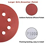 60 Pcs Sanding Discs 5 inch 8 Holes Hook and Loop