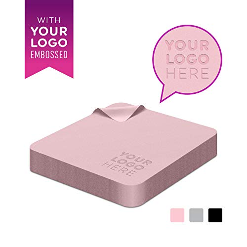 Custom Logo Microfiber Cleaning Cloth 6x6 in - Marketing & Promotion Gift, Personalized Wipe for Eyeglass, Glass, Jewelry, Screen, Electronics - Customize with Your Company Name - Small Pink 1000 pcs