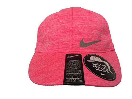 Price comparison product image Nike Girl`s Featherlight Dri-Fit Adjustable Cap With Built-In Ponytail Holder (2-4T, Heather Pink (A2J) / Heather N2)
