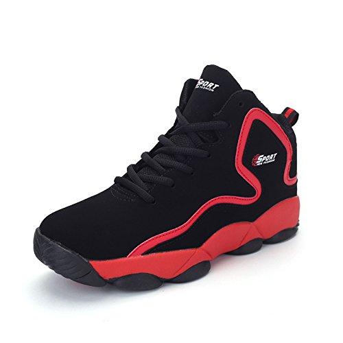 WZG la moda de alta superior zapatos de baloncesto de los nuevos hombres de la primavera, zapatos casuales zapatos transpirables de amortiguación par de zapatos deportivos modelos Red
