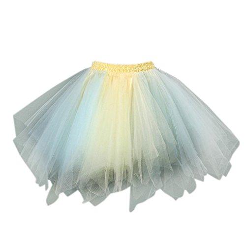 wind autumn Court Ballet Danse Gaze G Multicolore Jupon Femmes Jupe Adulte Chaudes Tulle Plisse Jupe Tutu fddpr