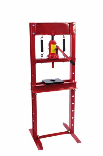 Dragway Tools 12 Ton Hydraulic Shop Floor Press with Press Plates and H Frame (Bottle Ton Press Jack Hydraulic)