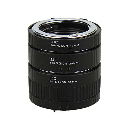 JJC Auto Focus Macro Extension Tube Set for Nikon DSLR Camera Nikon D850 D810 D750 D700 D610 D600 D500 D7500 D7200 D7100 D7000 D5600 D5500 D5300 D5200 D5100 D5000 D3400 D3300 D3200 D3100 and More