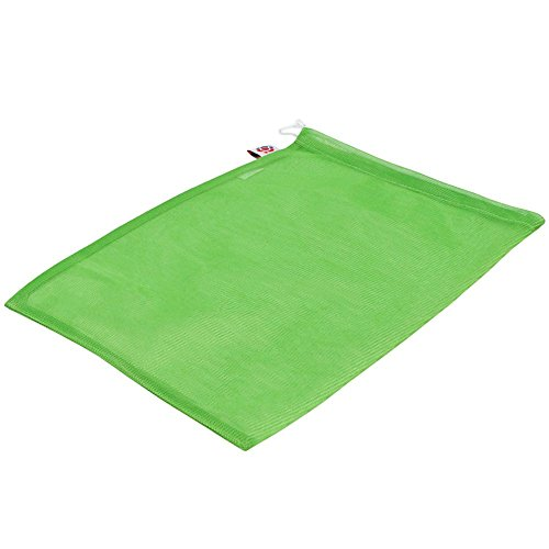 Green polyester mesh tulle bag with drawstring 25x30cm (6 pieces) by Ling