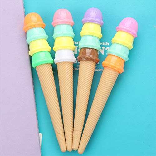 Cute Kawaii Multi-storey Ice cream Shape Gel Ink Pens school office supplies for girls Stationery novelty pens for kids stationary Gift (6)