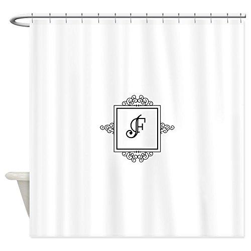 CafePress Fancy Letter F Monogram Shower Curtain Decorative Fabric Shower Curtain (69