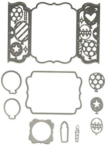 Sizzix 661389 Thinlits Die Set, Gatefold Card, Birthday by Lori Whitlock (10-Pack) ()