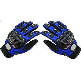AOW Attractive Offer World Pro Bikerz Riding Gloves (Blue, XXL Size)