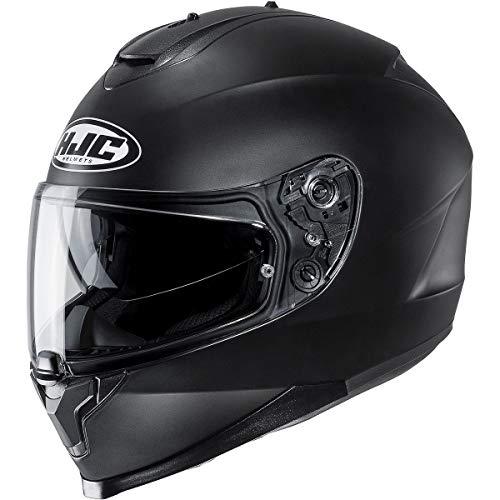 HJC Helmets C 70 Solid Men's Street Motorcycle Helmet - Semi Flat Black/Large