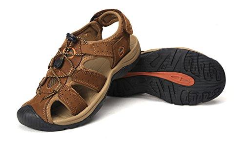 Ledersandalen Sportlich SOGXBUO XW Schuhe Sport Herren Sandalen Klettverschluss Kostüm Strand Mules Sommer Outdoor rItRwxtqB