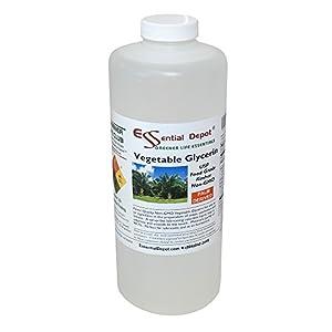 Glycerin Vegetable – 1 Quart (43 oz.) – Non GMO – Sustainable Palm Based – USP – KOSHER – PURE – Pharmaceutical Grade