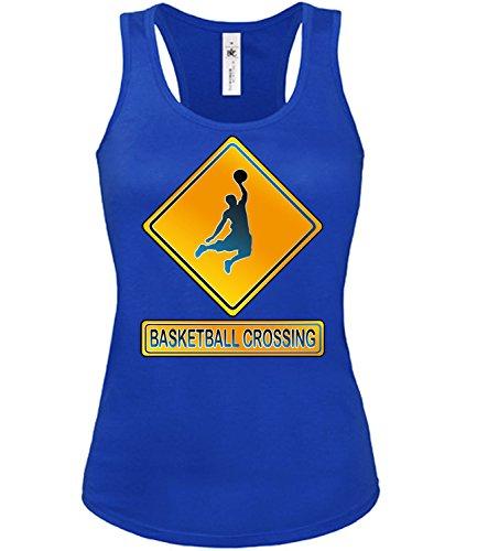 BASKETBALL CROSSING mujer camiseta Tamaño S to XXL varios colores S-XL Azul / Blanco