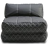 Gold Sparrow Austin Bean Bag Chair Bed, Black
