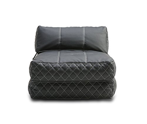 Gold Sparrow Austin Bean Bag Chair Bed, Black by Gold Sparrow