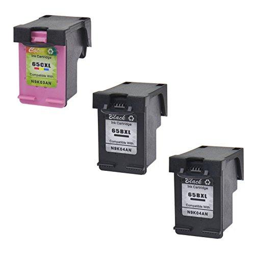 AMTONER Remanufactured for 65 65XL N9K04AN N9K03AN Ink Cartridge Replacement for Deskjet 3720 3755 3730 3752 3732 3758 2652 2655 Printers (2 Black 1 Tri-Color) -  altom international Inc., ATUS-65BXL-2+65CXL-1