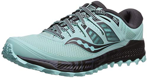 Saucony Women's Peregrine ISO Trail Running Shoe, Aqua/Grey, 6.5 M US by Saucony (Image #1)