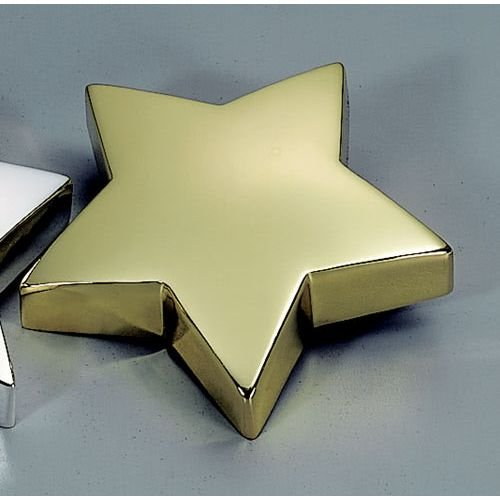 Plated Star Paperweight - Creative Gifts Star Paperweight, Brass Plated.