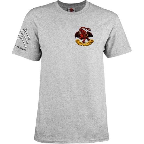 Powell-Peralta Steve Caballero T-Shirt, X-Large, Gray