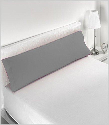 in Cotone 50/% Poliestere 105 cm Federa per Cuscino Miracle Home Colore: Grigio Morbida e Confortevole