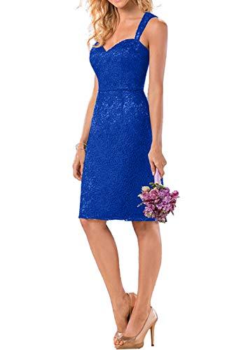 Blau Traeger Knielang Marie Kurz Navy mit Ballkleider Rock La Braut Blau Zwei Royal Promkleider Abendkleider Mini IwtHqcvp