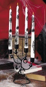 Halloween Black Spiderweb Candelabra, Candlestick Holder. 9