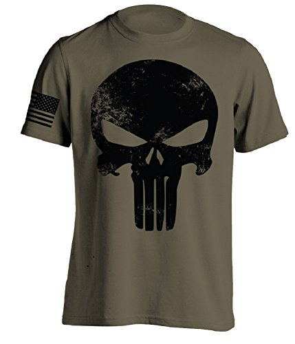 Bang Bang Apparel Men's Punishment T-Shirt (Military Green, Large)