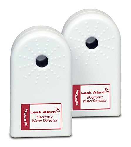 Zircon Leak Alert Water Leak Detector & Flood Sensor Alarm/ Water Leak Sensor with Dual Leak Alarms 90Db Audio/ Battery Powered (2 Pack) Batteries Not Included (Dual Water Heater)