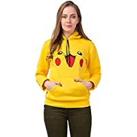 Fashion N Life Pikachu Pokemon Cotton Hoodie | Pikachu Sweatshirt Jacket for Women