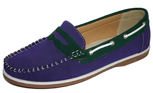 Coolers , Damen Bootsschuhe Purple/Green